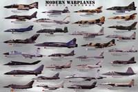 "Modern Warplanes by John James Audubon - 36"" x 24"""
