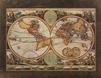 """28"""" x 22"""" World Map Art"""