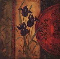 "Iris Fusion I by Linda Wacaster - 24"" x 24"""