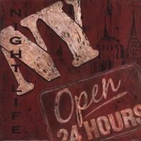 New York Nightlife Framed Print