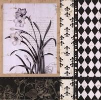 """Argyle Et Fleurs II by Carol Robinson - 12"""" x 12"""""""