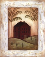 Red Meeting House Fine Art Print
