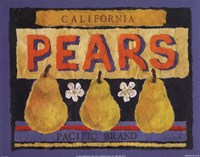 Pear Crate Label Fine Art Print