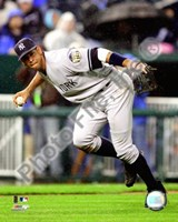 "Alex Rodriguez 2008 Fielding Action by John James Audubon - 8"" x 10"""