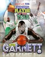 "Kevin Garnett - 2008 Defensive Player of the Year; Portrait Plus by John James Audubon - 8"" x 10"", FulcrumGallery.com brand"
