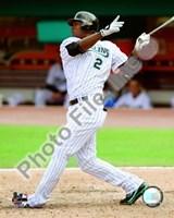 """Hanley Ramirez 2008 Batting Action by John James Audubon - 8"""" x 10"""""""