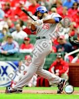 "Derrek Lee 2008 Batting Action by John James Audubon - 8"" x 10"""