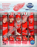 2008 Detroit Red Wings Western Conference Champions Composite Fine Art Print