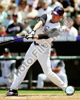 Brad Hawpe 2008 Batting Action Fine Art Print