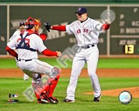 "Jon Lester's 2008 No Hitter, Celebration by John James Audubon - 10"" x 8"", FulcrumGallery.com brand"