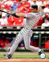 "Grady Sizemore 2008 Batting Action by John James Audubon - 8"" x 10"""