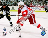 "Henrik Zetterberg, Game 4 Action of the 2008 NHL Stanley Cup Finals by John James Audubon, 2008 - 10"" x 8"""