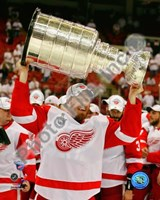Johan Franzen with the Stanley Cup, Game 6 of the 2008 NHL Stanley Cup Finals; #31 Fine Art Print