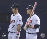 Joe Mauer & Justin Morneau 2008 Group Shot Fine Art Print