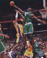 Kevin Garnett, Game 4 of the 2008 NBA Finals; Action #16 Fine Art Print