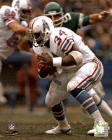 Earl Campbell Rushing Action Framed Print