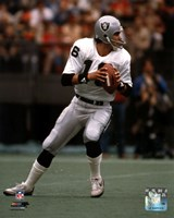 Jim Plunkett Dropping Back Action Framed Print
