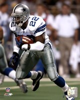 Emmitt Smith 2002 Rushing Action Fine Art Print