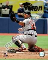 "Ramon Hernandez 2008 Catching Action by John James Audubon - 8"" x 10"""