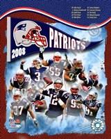 "2008 New England Patriots Composite by John James Audubon, 2008 - 8"" x 10"""