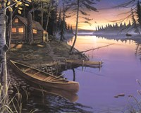 "Canoe at the Cabin by Ervin Molnar - 20"" x 16"""