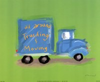 All Around Trucking Fine Art Print
