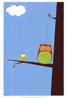 "Tree-top Owls II by June Erica Vess - 13"" x 19"""