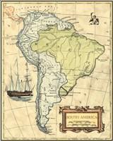 S.America Map Fine Art Print