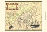 Asia Map Fine Art Print