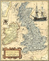 British Isles Map Fine Art Print