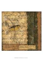 """Bird Melody II by Nancy Slocum - 13"""" x 19"""""""