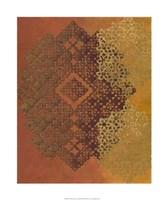 Golden Henna I Framed Print