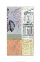 "Neo Victorian Collage IV by Jennifer Goldberger - 18"" x 28"""