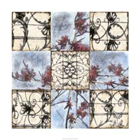 "Iron & Blooms by Jennifer Goldberger - 36"" x 36"", FulcrumGallery.com brand"