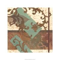 """Copper Scroll I by Nancy Slocum - 24"""" x 24"""""""