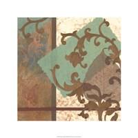 "Copper Scroll II by Nancy Slocum - 24"" x 24"""