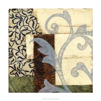 """Quilted Scroll I by Jennifer Goldberger - 24"""" x 24"""""""