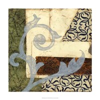 """Quilted Scroll II by Jennifer Goldberger - 24"""" x 24"""""""
