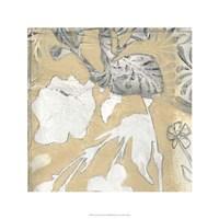 Neutral Garden Abstract I Framed Print