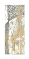 "Neutral Garden Abstract VI by Jennifer Goldberger - 19"" x 38"""