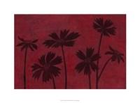 Scarlet Silhouettes II Framed Print