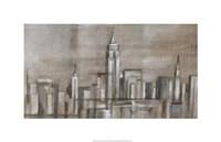 Metropolitan Skyline II Framed Print