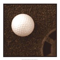 "Sepia Golf Ball Study I by Jason Johnson - 17"" x 17"""
