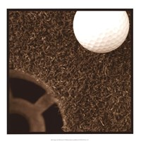 "Sepia Golf Ball Study II by Jason Johnson - 17"" x 17"""