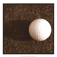 Sepia Golf Ball Study IV Fine Art Print
