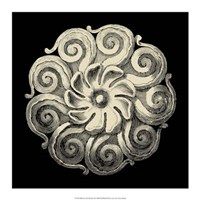 "Black and Tan Rosette I by Vision Studio - 17"" x 17"""