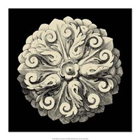 "Black and Tan Rosette II by Vision Studio - 17"" x 17"""
