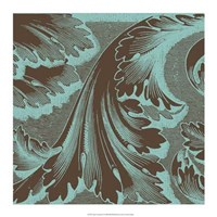 "Azure Acanthus I by Vision Studio - 17"" x 17"""