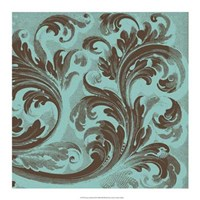 "Azure Acanthus III by Vision Studio - 17"" x 17"""