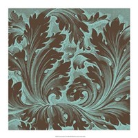 "Azure Acanthus IV by Vision Studio - 17"" x 17"""